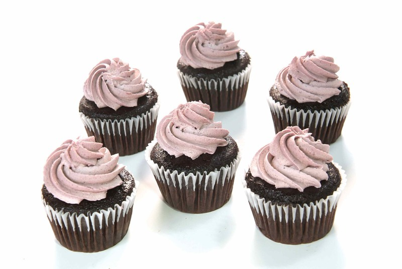 Chocolate Lavender Cupcakes from Sweets From The Earth